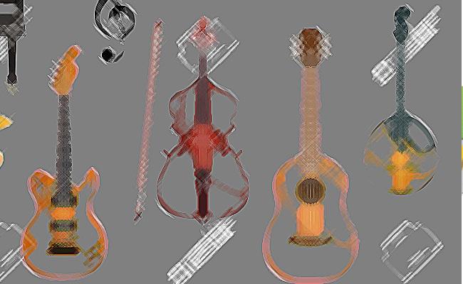 distintos tipos de instrumentos de cuerda