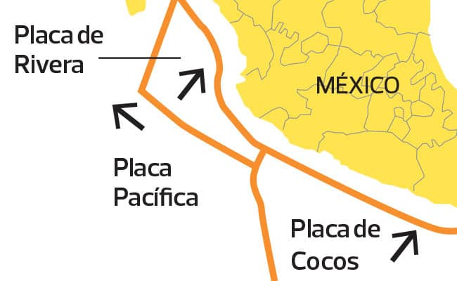Placa de cocos y norteamericana