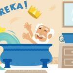 Arquímedes en la bañera caricatura