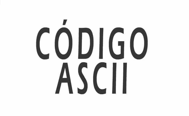 tabla de código ascii