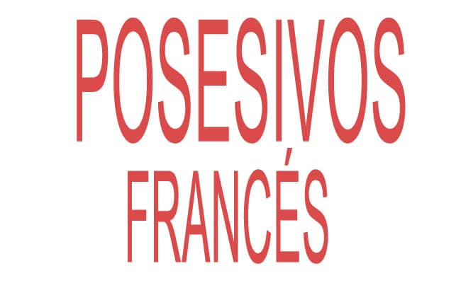 posesivos en francés