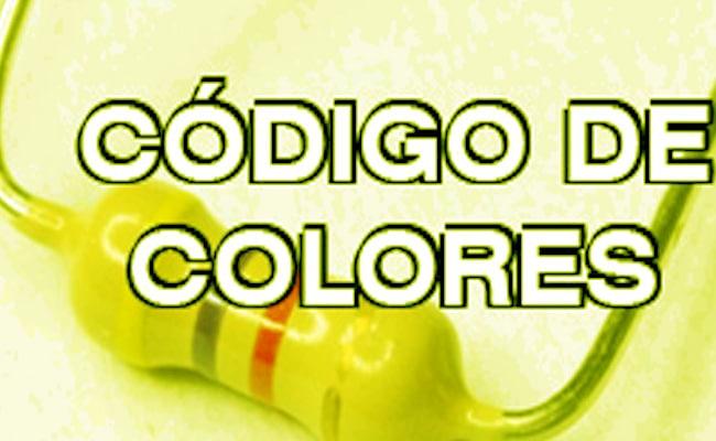 código de colores de la resistencia