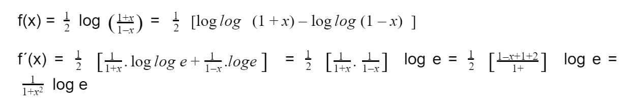 derivadas logarítmicas
