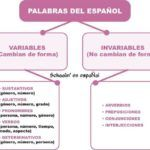 Palabras del Español variables e invariables
