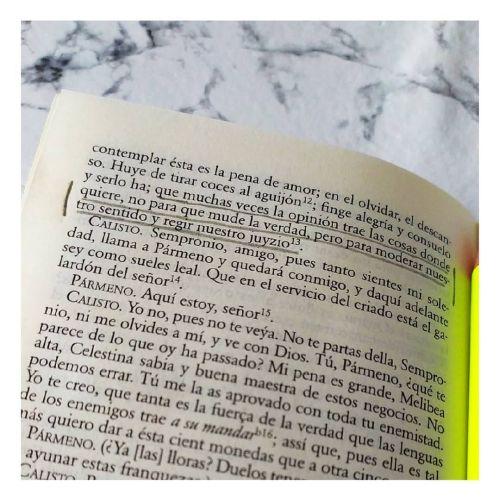 Página del libro de La celestina