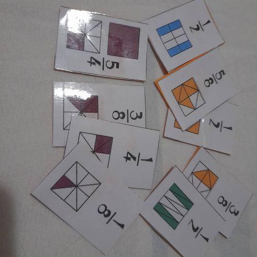 Cartas para aprender fracciones