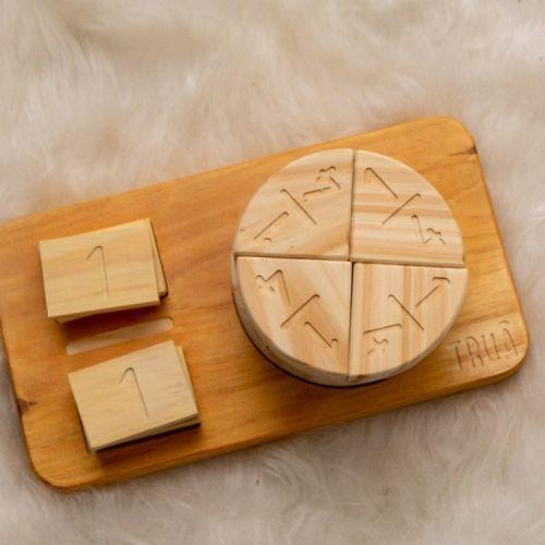 Fracciones juego de madera