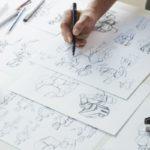 Diseño de personajes y escenas gráficas de guión